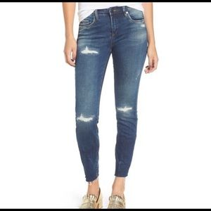 Blank NYC High Dive Ripped Skinny Jeans